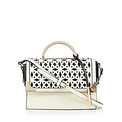 Faith - White laser cutout shoulder bag