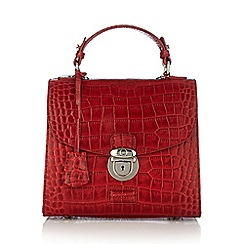 Osprey London - Dark red mock croc grab handle