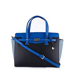 Fiorelli - Navy large belted colour block tote bag