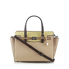 Fiorelli - Yellow large colour block belted grab bag