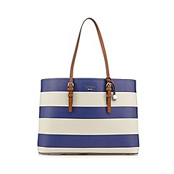 Fiorelli - Blue striped three part large tote bag