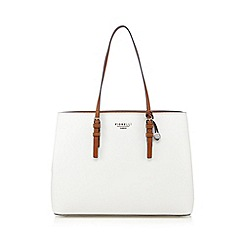 Fiorelli - White colour block three part large tote bag