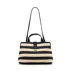 Fiorelli - Black woven striped small grab bag