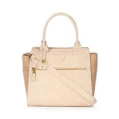 Nica - Pale pink reptile effect tote bag