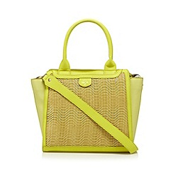 Nica - Yellow wave panel tote bag