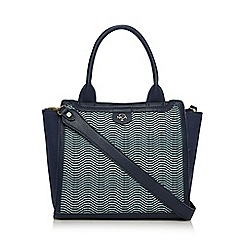Nica - Navy wave panel tote bag