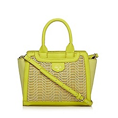 Nica - Yellow wave panel mini tote bag