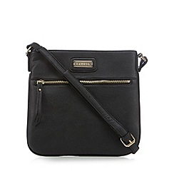 Kangol - Black zip front cross body bag