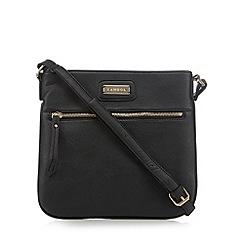 Kangol - Black zip front cross body bag