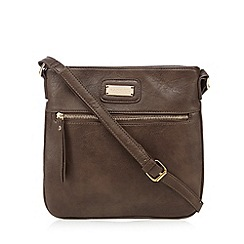 Kangol - Brown zip front cross body bag