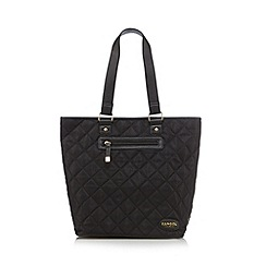 Kangol - Black quilted zip grab bag