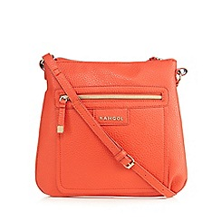 Kangol - Bright red 'Elegrain' cross body bag