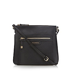 Kangol - Black grained cross body bag