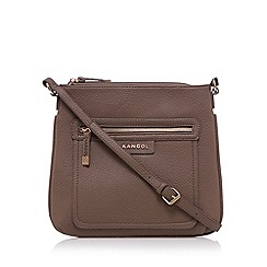Kangol - Light brown grained cross body bag