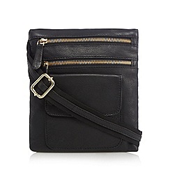 Kangol - Black leather small cross body bag