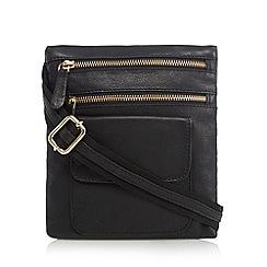 Kangol - Black leather small cross body bag