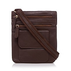 Kangol - Chocolate leather small cross body bag