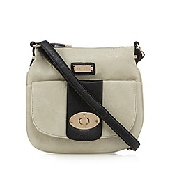 Kangol - Beige logo plate cross body bag