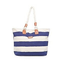 Kangol - Navy striped nautical shoulder bag