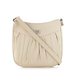 Osprey London - Tan leather pleat cross body bag