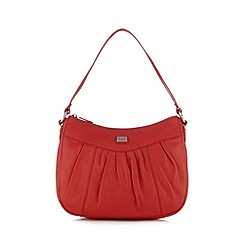Osprey London - Red leather pleat shoulder bag