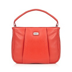 Osprey London - Red leather small pleat shoulder bag
