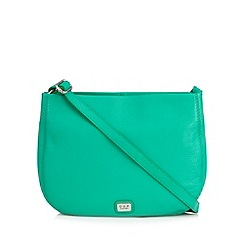 Osprey London - Bottle green leather cross body bag