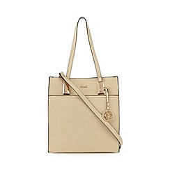 Sacha - Cream logo charm rectangle grab bag
