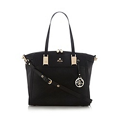 Sacha - Black winged shopper bag