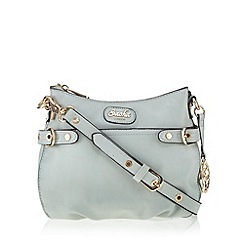 Sacha - Blue logo charm cross body bag
