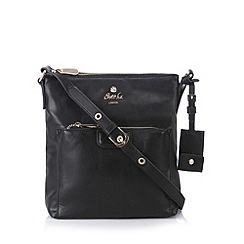 Sacha - Black zip pocket cross body bag