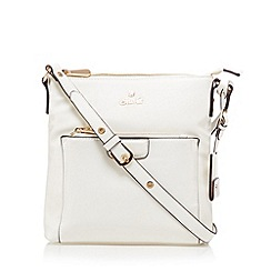 Sacha - White zip pocket cross body bag