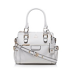 Sacha - White zip front small grab bag