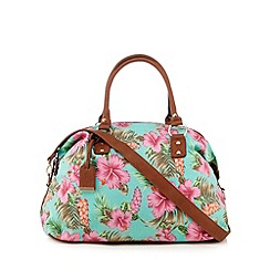 Call It Spring - Turquoise 'Savastano' floral weekender bag