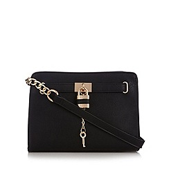 Call It Spring - Natural 'Arnt' padlock cross body bag