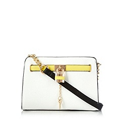 Call It Spring - White 'Arnt' padlock cross body bag