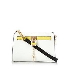 Call It Spring - White 'Arnt' padlock cross body bag
