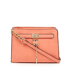 Call It Spring - Coral padlock cross body bag