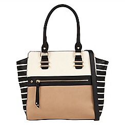 Call It Spring - Black 'Garolves' colour block tote bag