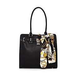 Call It Spring - Black 'Aritzo' scarf tote bag