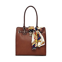 Call It Spring - Tan 'Aritzo' scarf tote bag