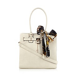 Call It Spring - Cream 'Aritzo' tote bag with scarf