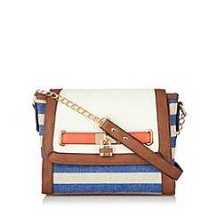 Call It Spring - Blue 'Crutison' striped cross body bag