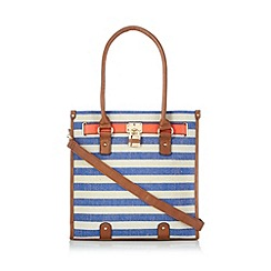 Call It Spring - Blue 'Nickles' large striped tote bag