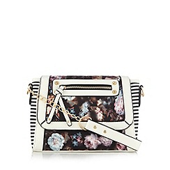 Call It Spring - Black 'Taleggio' graphic floral cross body bag