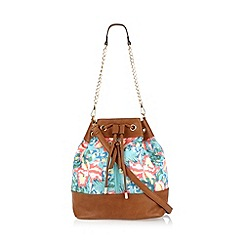 Call It Spring - Tan 'Hirtz' floral duffle bag