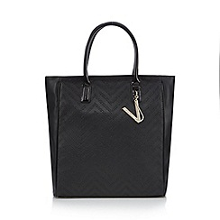 Versace Jeans - Black embossed tote bag