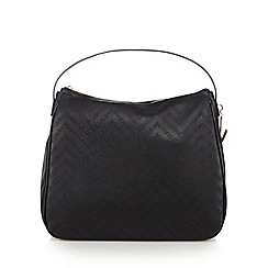 Versace Jeans - Black embossed hobo bag