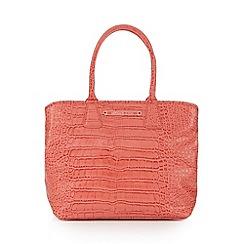 Versace Jeans - Coral mock croc grab bag