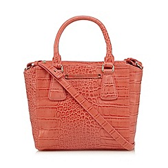 Versace Jeans - Coral mock croc mini tote bag